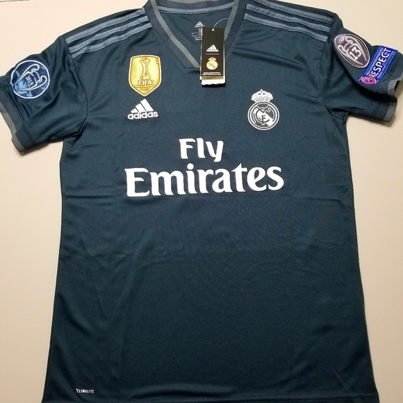 check out 1c1dc 8467d New Real Madrid Away Jersey Benzema Season 18-19 NWT